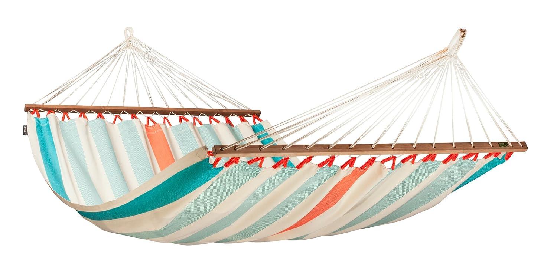 La Siesta(ラ シエスタ) 1~2人用 ダブルバーハンモック COLADA 北米スタイルハンモック B00BBSJ2T0  クラサオ (ブルー/ホワイト)