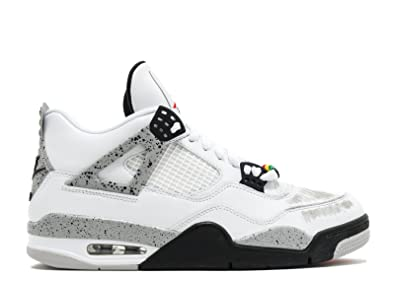 official photos bdf97 4db67 ... low price nike mens air jordan 4 retro cement white fire red black  leather size 8
