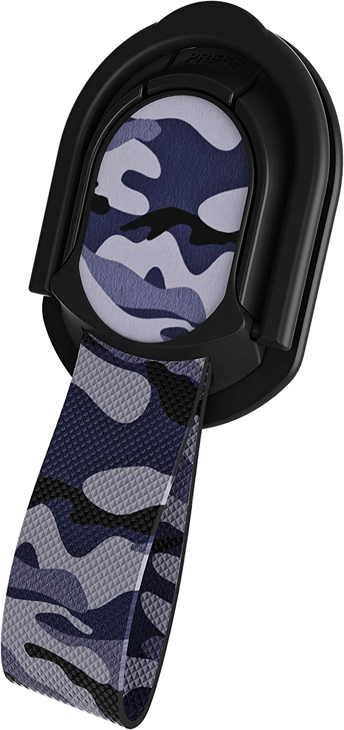 11 11 Pro Max /— Camo Blue Ghostek Loop Magnetic Finger Strap Phone Holder Grip with Adjustable Metal Kickstand /— Ergonomic iPhone and Galaxy Holder is Perfect for Taking Selfies /— iPhone XR