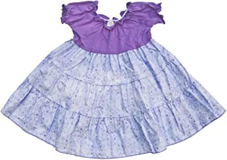 product image for Cheeky Banana Sweet Little Girls Floral Tiered Ruffle Dress Lavender