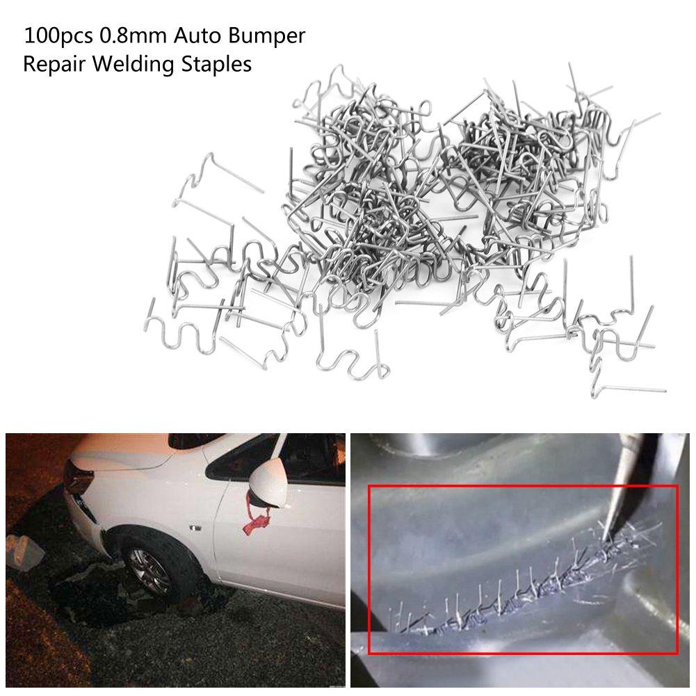 100 grapas para soldar de 0,8 mm 3 tipos Keenso para reparaci/ón de parachoques