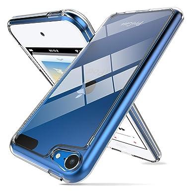 ProCase Funda Transparente iPod Touch 7/6/5, Carcasa Ultra Fina Híbrida con Reverso PC Duro Borde TPU Flexible, Funda Anti ...