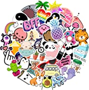 Stickers for Water Bottles 45-Pack Waterproof Cute Aesthetic Trendy Stickers for Teens Kids Girls and Boys, Perfect for Hydr