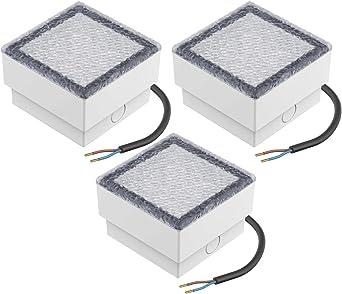 parlat LED Einbaustein Wegbeleuchtung CUS 10x10cm 230V warm-wei/ß 3 STK.