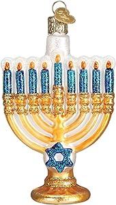 Old World Christmas Hanukkah Glass Blown Ornaments for Christmas Tree Menorah