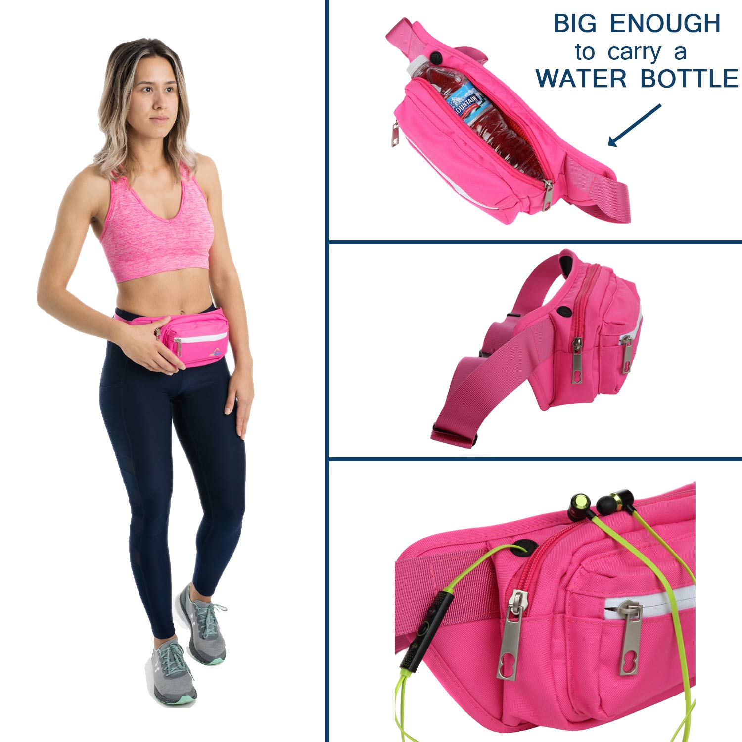 Fannie Pack for Women Running /& More Traveling Pro Helios Premium Fanny Packs for Men /& Women Water Resistant Waist Bag for Outdoor Activities Biking Hiking