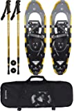 Winterial Highland Snowshoes 30 Inch Lightweight Aluminum Rolling Terrain Gold Snow Shoes with Carry Bag and Adjustable…