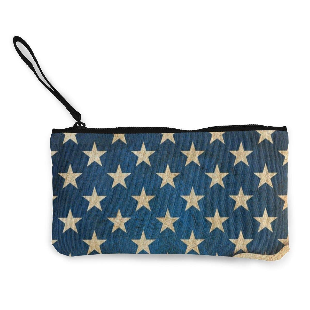 uhfgyhuihjf Canvas Coin Purse 4Th Of July Indenpendence Day Customs Zipper Pouch Wallet For Cash Bank Car Passport