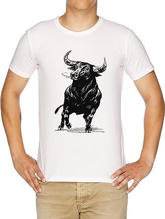 Toro Camiseta Hombre Blanco: Amazon.es: Ropa y accesorios