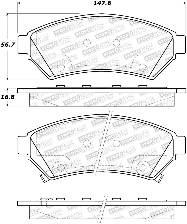 StopTech 308.10750 Street Brake Pads 5 Pack