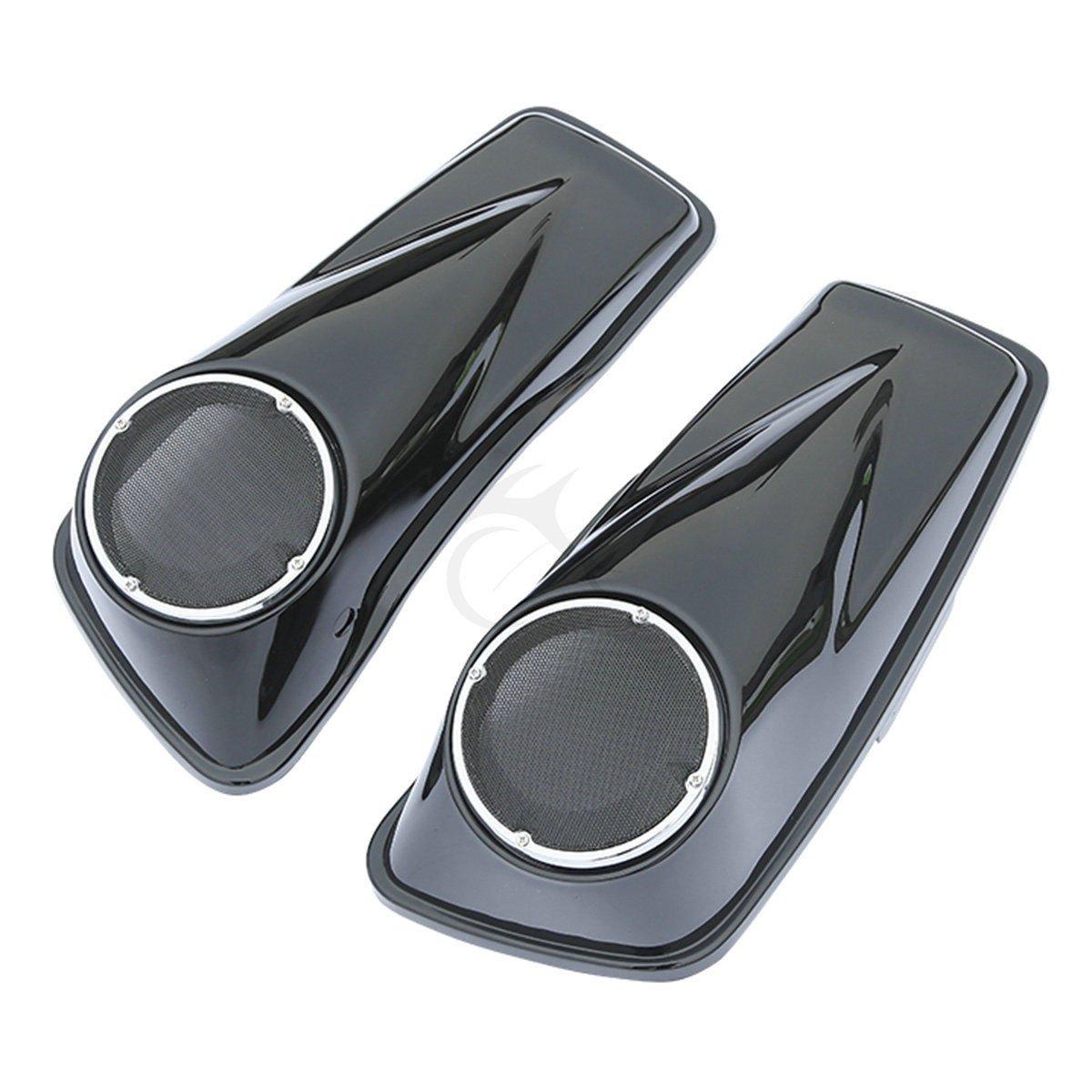 XFMT Stretched 6.5 Speaker Extended Saddlebag Compatible with Harley Davidson Touring 14-19 18 17