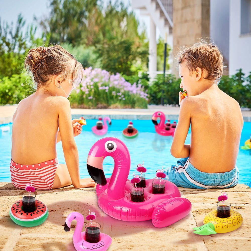 Drink Pool Floats Cup Holder Floats Inflatable Floating Coasters for Pool Party and Kids Swimming /& Pools Toys Chapter Seven 7 PACK New Inflatable Drink Holder