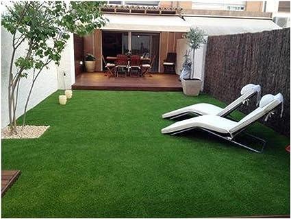 Yellow Weaves High Density Artificial Grass Carpet Mat For Balcony
