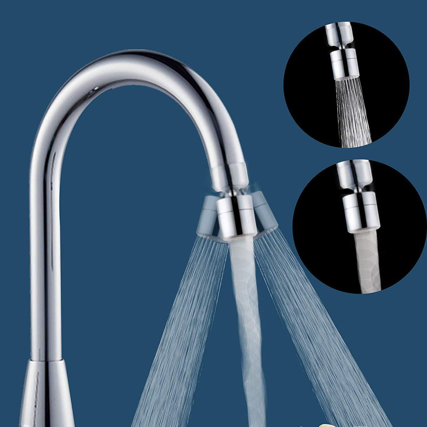 Aireador para fregadero de cocina Dispositivo de ahorro de agua de lat/ón s/ólido 2pcs aireador de grifo giratorio de 360 grados