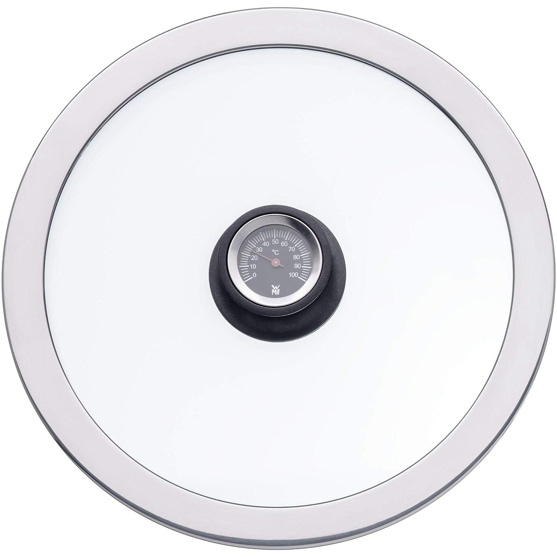 WMF 785246380 Olla Alta de 24 cm con termómetro Integrado, Cromargan, Acero Inoxidable: Amazon.es: Hogar