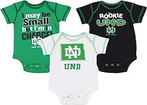 OuterStuff NCAA Newborn (0M-9M) Infant (12M-24M) Three Pack Creeper Set, Team Variation