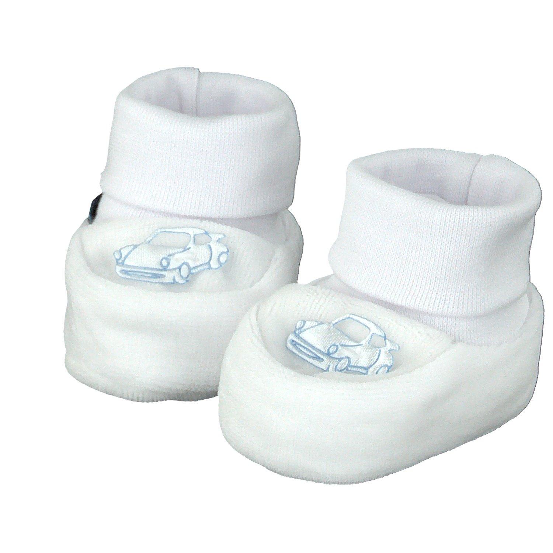 Samt 0-3 Monate Wei/ß 16 EU Pantau Babyschuhe Erstlingsschuhe Taufschuhe Babysch/ühchen Babysocken