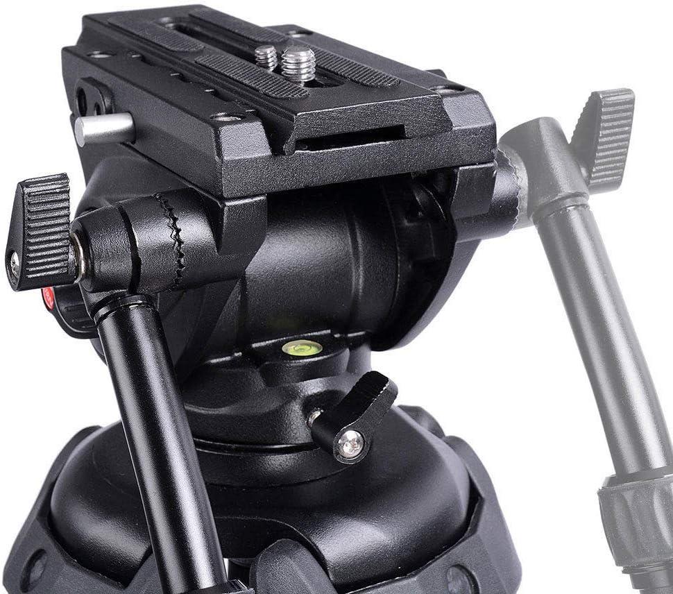 Kanizz Portable Aluminum 71 Professional Tripod Stand Outdoor DV Video Camera Film Maker Adjustable Fluid Pan Head