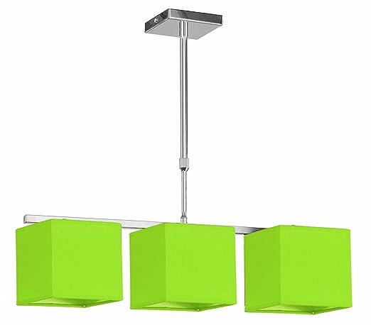 Valan Lámpara de Techo E27, 60 W, Verde Pistacho, 60 x 60 x ...