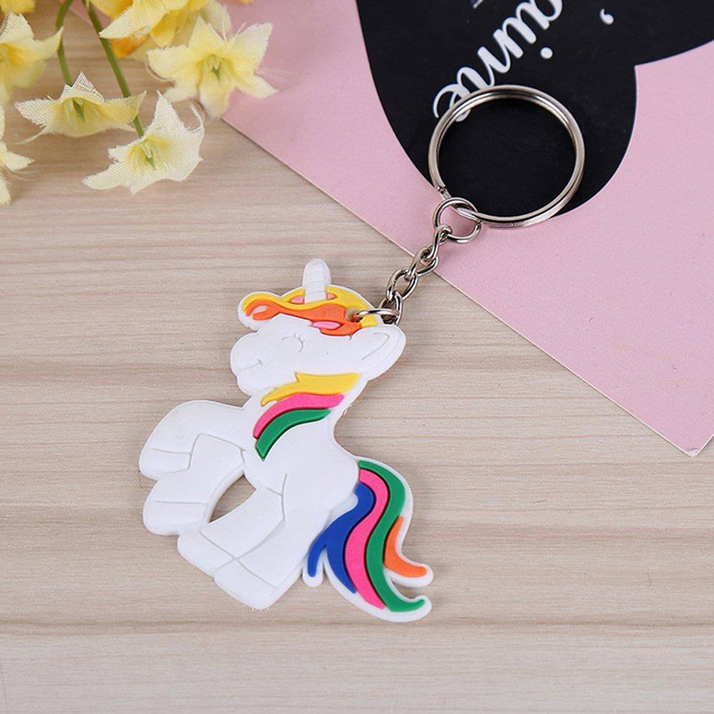 Paquete de 10 toymytoy unicornio llavero Unicorn design llavero para ni/ños ni/ñas cumplea/ños regalo juguetes