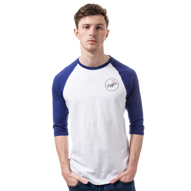 A NEW ERA Era Ne96422Fa16 MLB Raglan tee Losdod - Camiseta Manga Larga-Línea Los Angeles Dodgers para Hombre 11278355