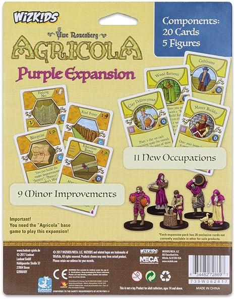 Mayfair Games Europe mfg72869 Agricola Game Expansion: Purple (5 Figures), Multicolor: Amazon.es: Juguetes y juegos