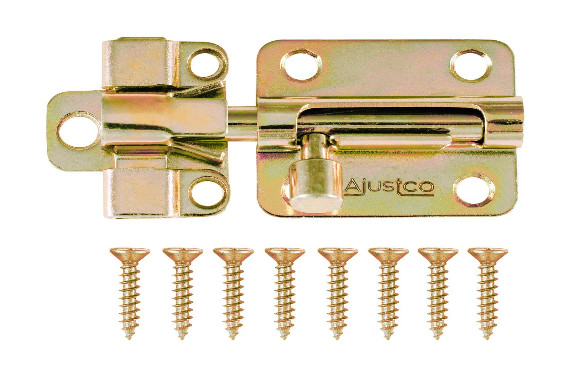 AjustLock 2.5'' Barrel Bolt Lock (Brass)