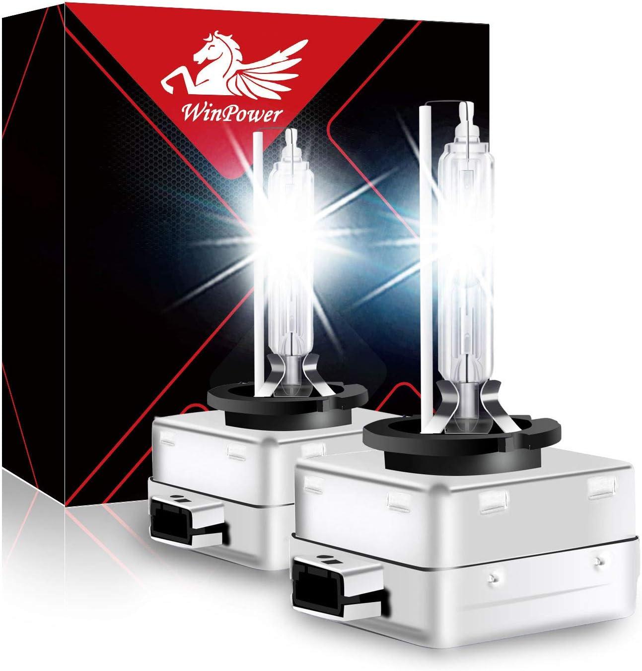 Winpower D1s Bi Xenon Brenner 35w Hid Scheinwerfer Biren Entladungslampe Set 12v 6000k Diamond Weiß Mehr Licht Extreme Vision Headlight Lampe 24v 2 Stücke Auto
