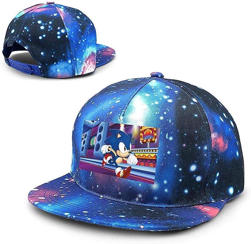 Unisex Sonic-Mania Galaxy Hip Hop Snapback Sombrero de ala Plana ...