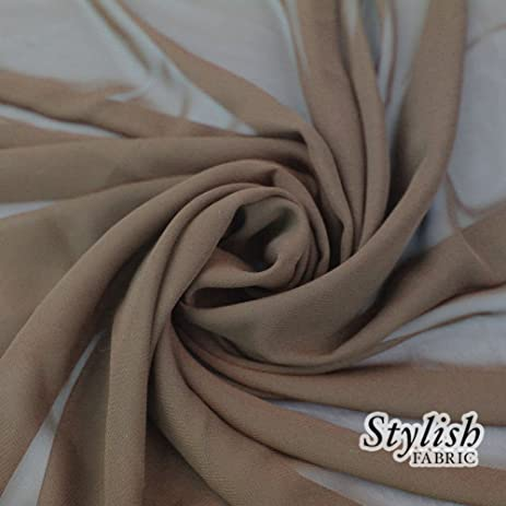 58quot TAUPE Solid Color Sheer Chiffon Fabric By The Yard