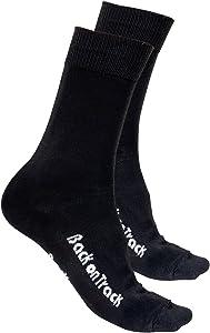 Back on Track Therapeutic Socks, Black, Medium (Shoe Size 6 - 9.5)