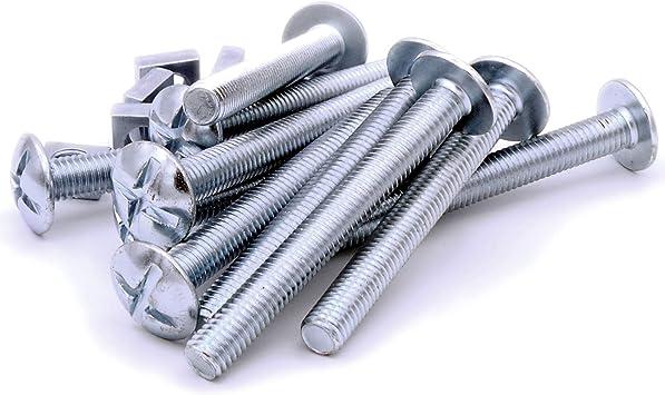 M8 x 70 mm (8 mm) cabeza tornillos y tuercas – acero (Pack de 10 ...