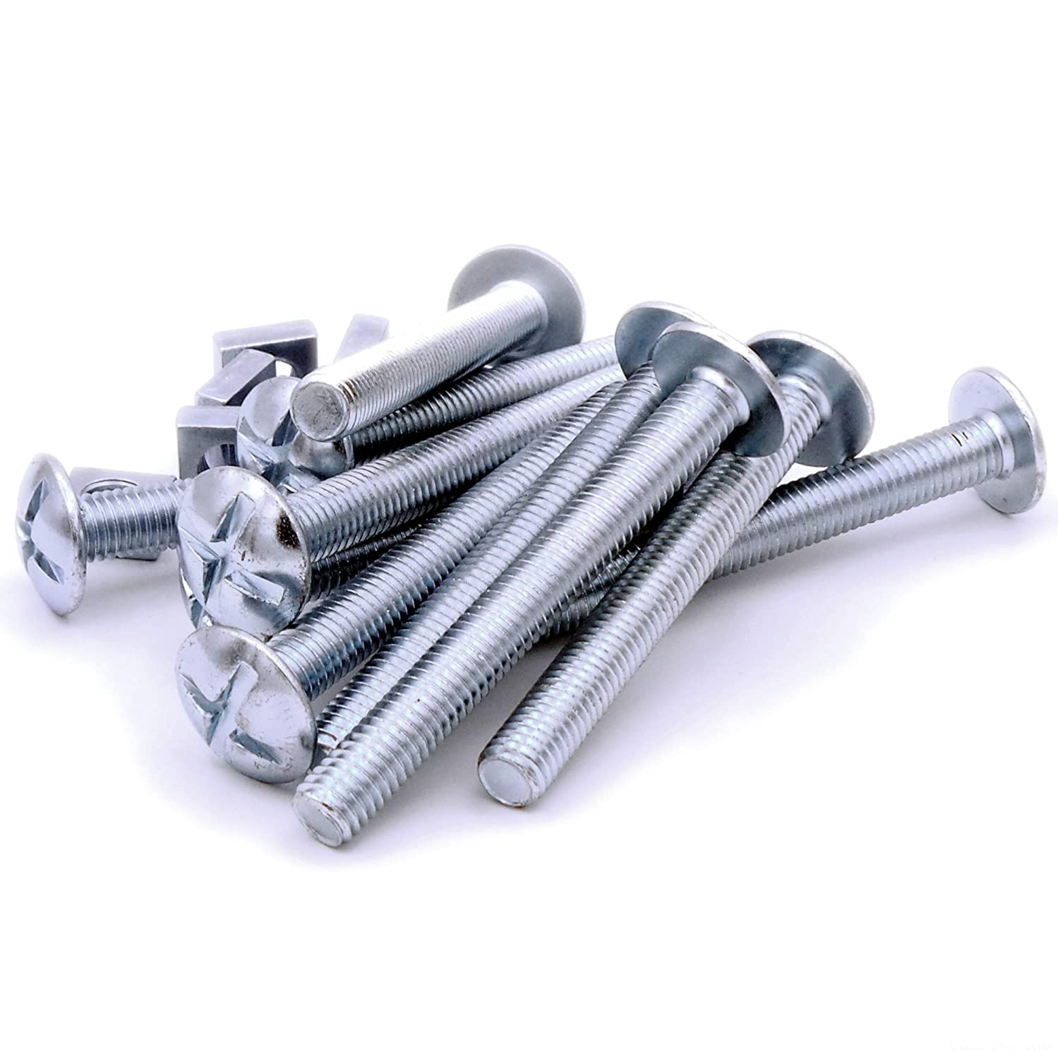 M8 (8mm x 80mm) Roofing Bolts & Nuts - Steel (Pack of 10) Singularity Supplies Ltd