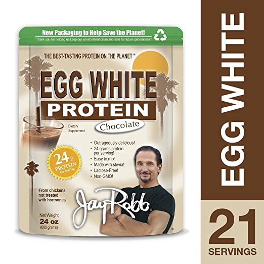Jay Robb - Egg White Protein Powder, Outrageously Delicious, Chocolate