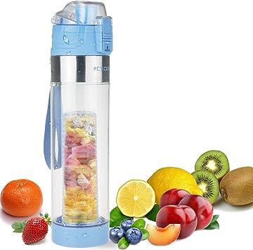Trinkflasche mit Fruchteinsatz Infuser Wasserflasche Sportflasche Sport 700ml