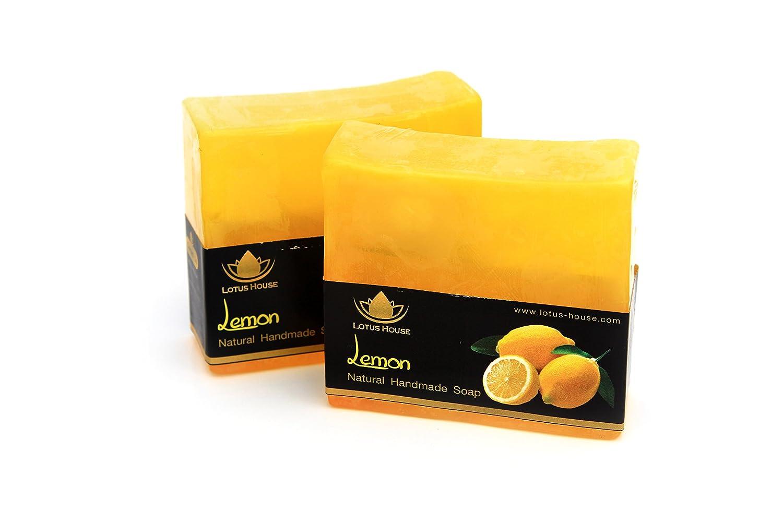 Lotus House Lemon Natural Handmade Soap (300g) / 3 Bars