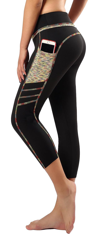 X0301 Sugar Pocket Women's Workout Leggings Running Tights Yoga Pants Red