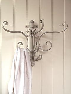 antique french vintage style metal wall coat hooks rack storage rh amazon co uk