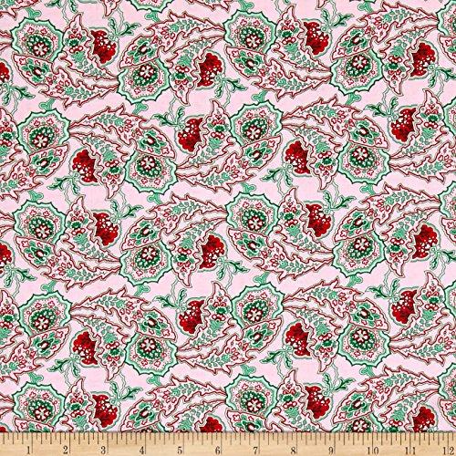 (FreeSpirit Fabrics Verna Mosquera Rose Paisley Path Peppermint Fabric by The Yard)