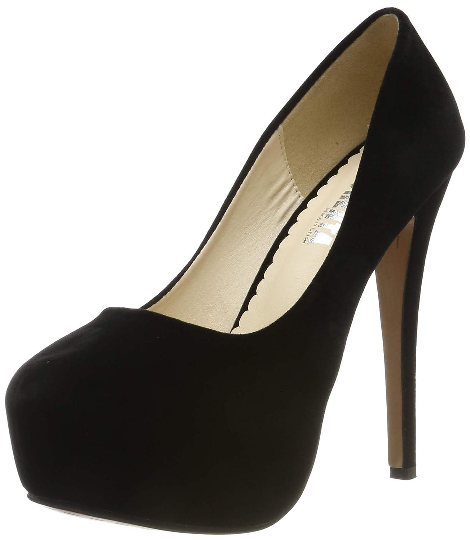 a27816ddcce OCHENTA Women's Round Toe Stiletto High Heel Platform Slip On Pumps
