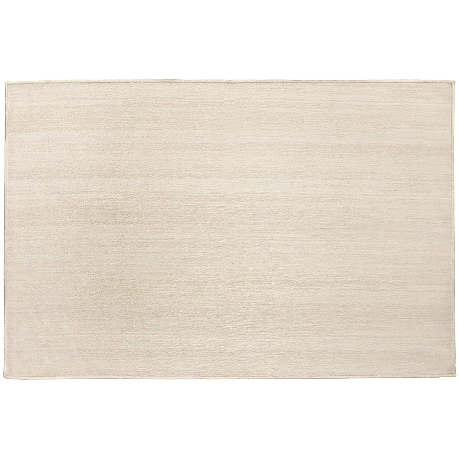 RUGGABLE Washable Stain Resistant Indoor/Outdoor, Kids, Pets, and Dog Friendly Accent Rug 3'x5' Solid Textured Cream