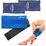 Flexible Gel Ice Pack & Wrap for Hot and Cold Compression Therapy – Adjustable Velcro Strap for Desired Compression – Effective Pain Relief & Recovery – Ideal for Neck, Knee, Elbow, Arm, & Head