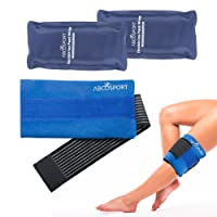 Flexible Gel Ice Pack & Wrap for Hot and Cold Compression Therapy – Adjustable Strap for Desired Compression – Effective Pain Relief & Recovery – Ideal for Neck, Knee, Elbow, Arm, Head
