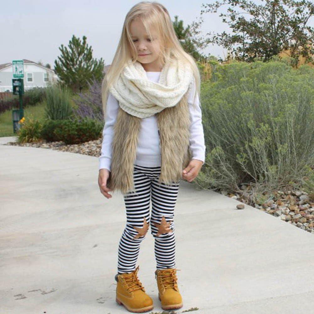 Cute Baby Girl Fleece Vests Faux Fur-RQWEIN Toddler Girl Faux Fur Vest Coat Winter Warm Waistcoat Outerwear
