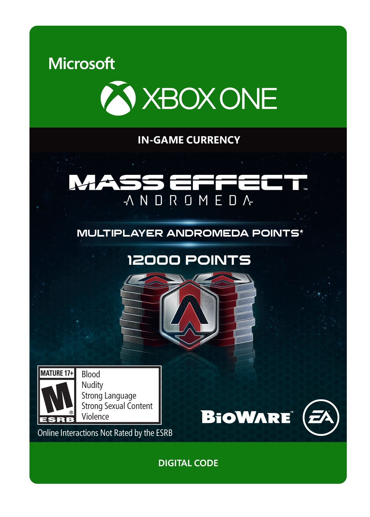 Mass Effect: Andromeda: Andromeda Points Pack 6 (12000 PTS) - Xbox One [Digital Code]