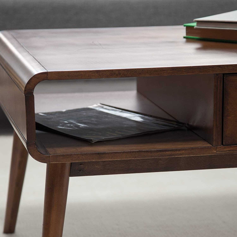 Amazon Belham Living Carter Mid Century Modern Coffee Table