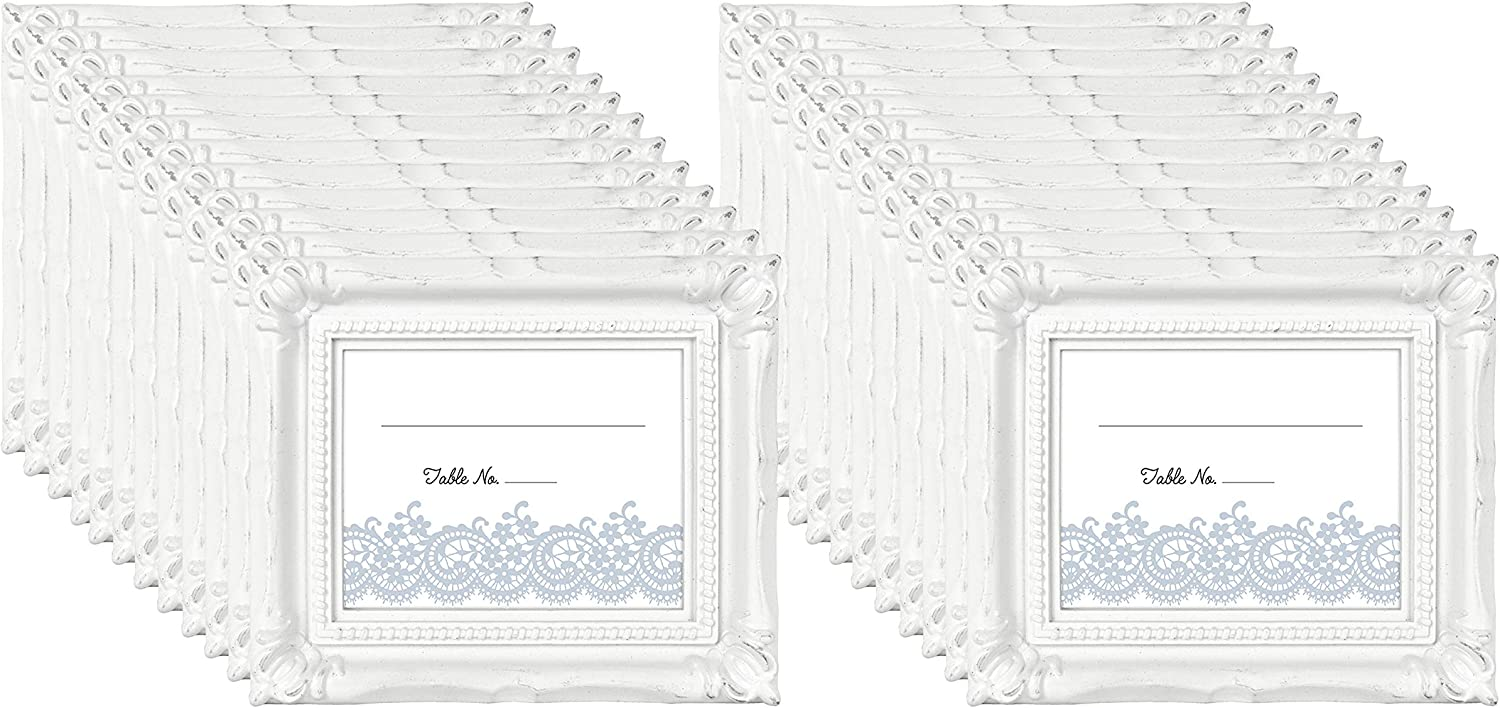 MCS Wedding Photo Frame/Placecard Holder, 69040, 24-Pack, White, 24 Count