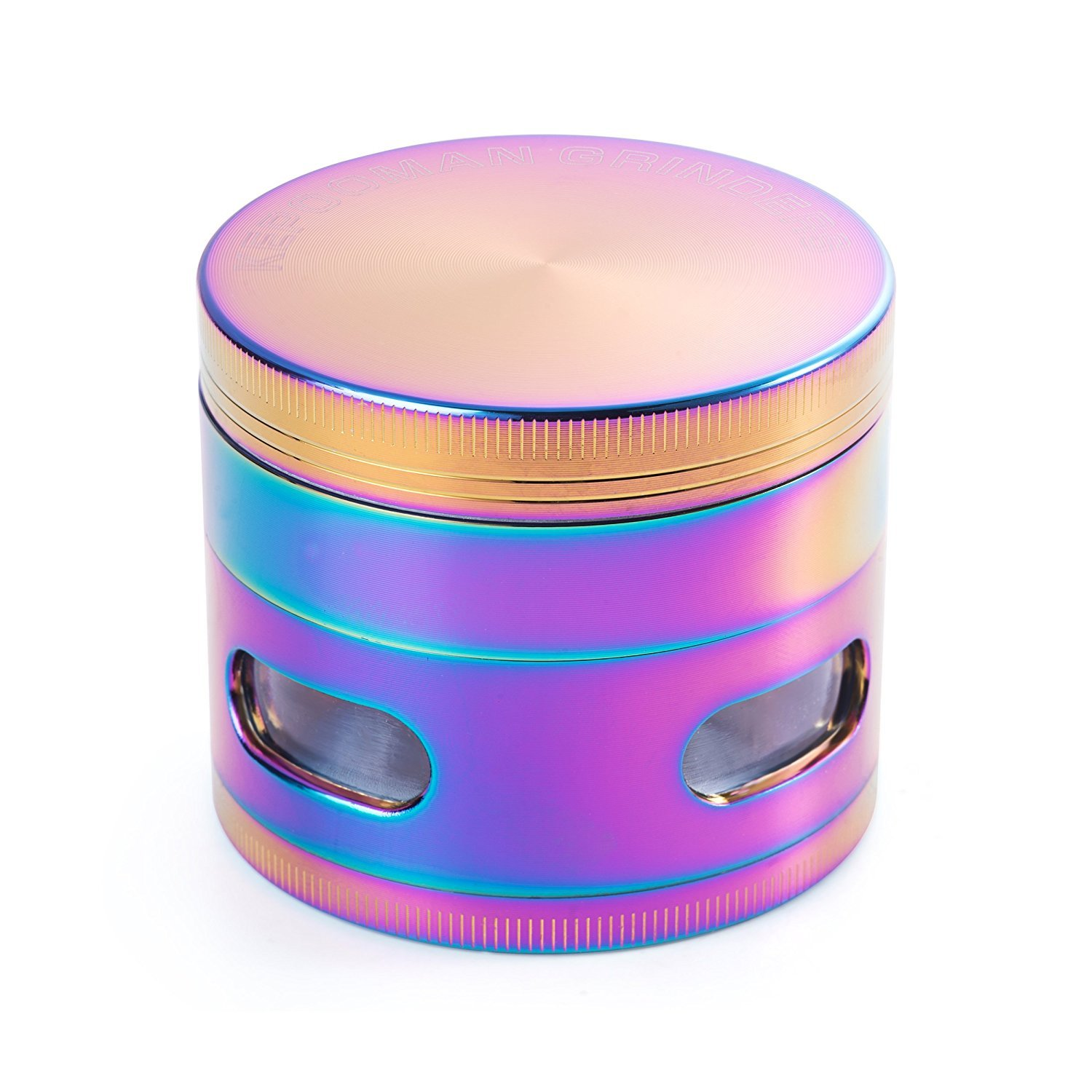 KepooMan Colorful Metal Zinc alloy Tobacco Spice Herb Grinder-Rainbow Metal, 52 mm-Diameter, 4 Piece B01M4KPQNY