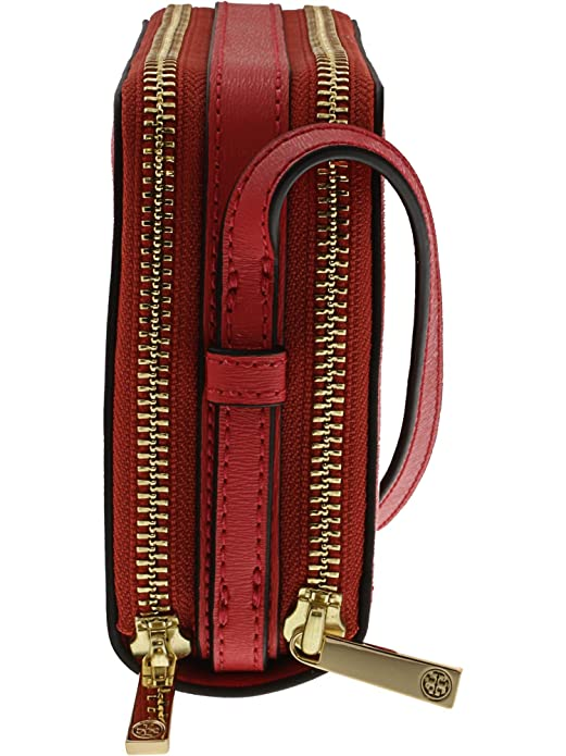 57eb55127eef Tory Burch Parker Double Zip Mini Bag (Red Ginger)  Handbags  Amazon.com