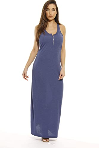 Just Love Maxi Dress with Front Zipper / Summer Dresses